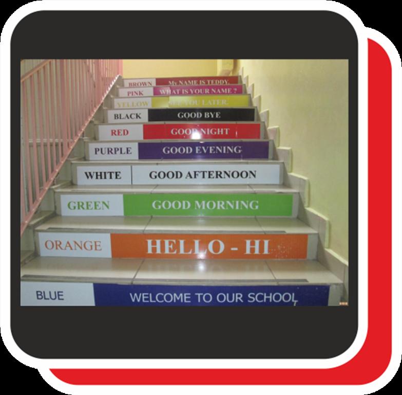 Okul merdivenleri üzerine yazılan veya yapışrırılan ürünlerdir.